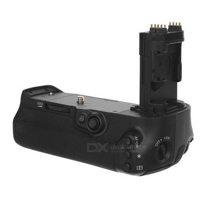 Portable Battery Holder / Hand Grip for Canon BG-E16 - Black