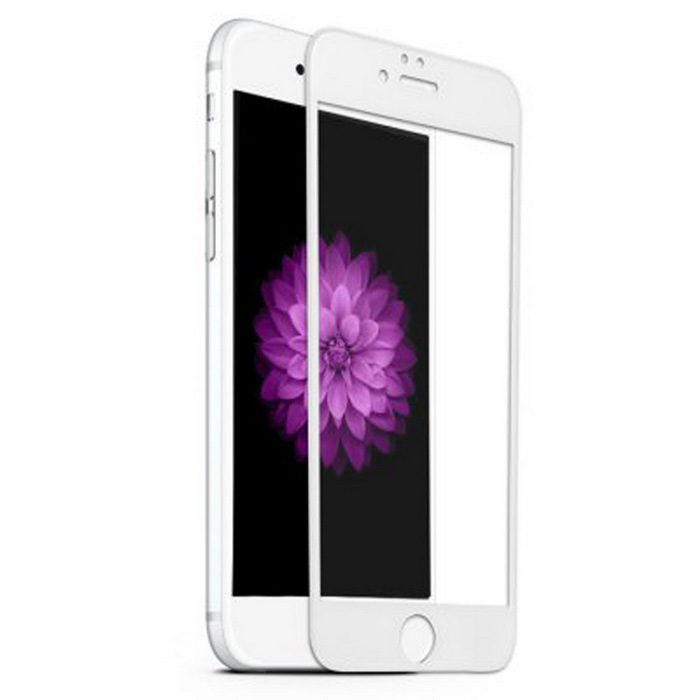 ASLING 9H 0.26mm 3D Full Cover Arc Tempered Glass Screen Protector for IPHONE 6 4.7 inch - White