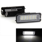 Qook 1.4W 6500K White 18-LED 3528 SMD Number License Plate Lights for VW Passat CC (12V / 2PCS)