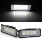 Qook 1.4W 18-LED Number License Plate Light for VW Passat CC (2PCS)