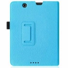 "PU Folio Case Cover for Nextbook Premium 8HD 8"" Tablet - Light Blue"