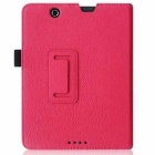 "PU Folio Case Cover for Nextbook Premium 8HD 8"" Tablet - Deep Pink"