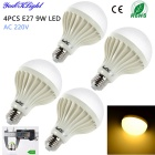 YouOKLight E27 9W 880lm 3000K 15 x SMD 5630 Warm White LED Light Bulb Lâmpadas (AC 220V / 4 PCS )