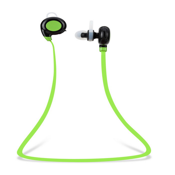 In-Ear Bluetooth 4.0 Earphones w/ Mic for IPHONE, IPAD - Black + Green