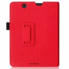 "PU Folio Case Cover for Nextbook Premium 8HD 8"" Tablet - Red"