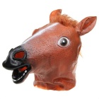 Halloween Costume Prop Funny Horse Head Mask - Brown + Black + White