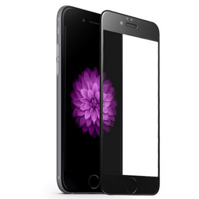 ASLING 9H 0.26mm 3D Full Cover Arc Tempered Glass Screen Protector Guard for IPHONE 6 - Black