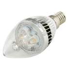 YouOkLight E14 3W 3-LED Candle Bulb Lamp Warm White Light 280lm (6PCS)