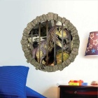 Dinosaur Style Wall Decals PVC Wall Stickers - Green Brown