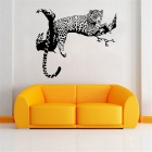 Leopard Pattern Removable PVC Vinyl Wall Sticker Decal for Home Decoration - Black