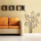 Cartoon Tree Style PVC Wall Decal Sticker - Black