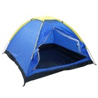 Outdoor Camping Tent for Three People - Blue + Yellow (200 x 200cm)