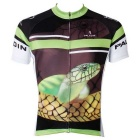Paladinsport Men's Snake Pattern Outdoor Cycling Short-Sleeve Jersey T-Shirt - Green + Black (XXXL)