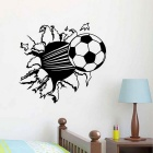 3D Football Style PVC Wall Sticker Decal - Black