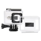 PANNOVO PC 30m Waterproof  Case + Open Hole Cover Kit for XIAOMI Xiaoyi Camera - Transparent + Black
