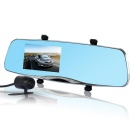 "U-ROUT 4.5"" FHD 1080P Rearview Mirror Car DVR Camcorder w/ Dual Camera / 170' Wide Angle"