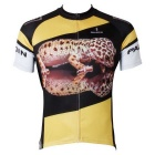 Paladinsport Men's Gecko Pattern Polyester Outdoor Bike Cycling Short-Sleeve Jersey Top T-Shirt (M)