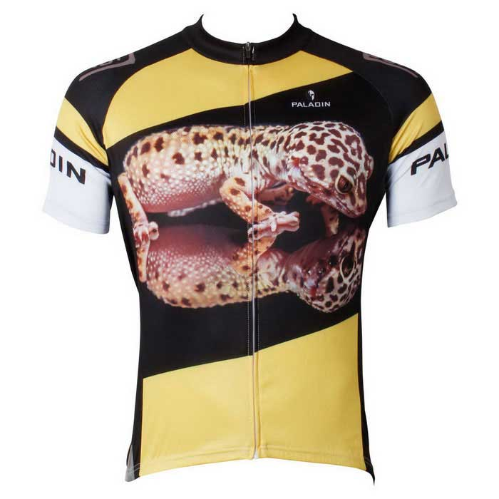 Paladinsport Gecko Pattern Bike Short-Sleeve T-Shirt - Yellow (L)