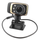 "FHD 1080P 1/2.7"" CMOS Car DVR w/ 5.0MP / G-sensor / Night Vision - Gold + Black"
