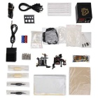 T02 Professional 2-Casting Tattoo Machine + Power Supply + Pedal + Needle + Accessories Kit - Black