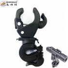 ZHISHUNJIA Universal Plastic Cycling Bicycle Flashlight Torch Mount Holder Clamp - Black