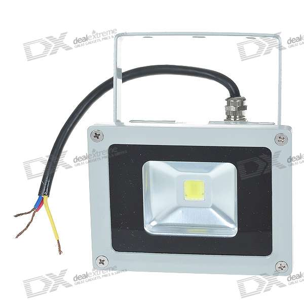 10W 1000LM 6000K High Powered Flood Light/Projection Lamp (85~265V)