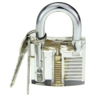 Slotted Practice Padlock + Comb Style Lock Pick Tool Set