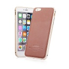 Kaneng Aviation Aluminum + Cowhide Leather Back Case for IPHONE 6 PLUS - Brown