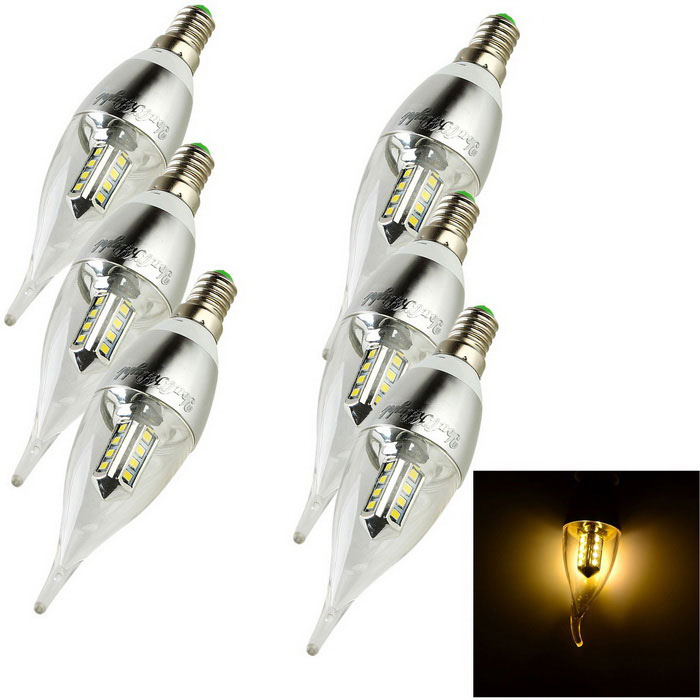 YouOKLight E14 3W LED Candle Bulb Warm White Light 280lm 16-SMD (6PCS)