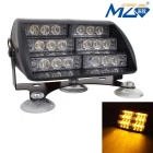 MZ Universal 30W 18-LED Car Flashing Warning Light Yellow Light 3-Modes 900lm 577nm (12V)