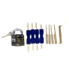 Práctica Candado + Single - gancho de Pick Herramientas + Doble - End Peine Estilo Lock Picks Set