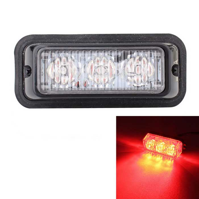 MZ 9W Red 3-LED Car Flashing Signal / Fog / Driving Lamp (12~24V)Other Car LED Bulbs<br>Color BIN3LED RedModelN/AQuantity1 DX.PCM.Model.AttributeModel.UnitMaterialPlasticForm ColorBlackEmitter TypeLEDChip BrandOthers,N/AChip TypeN/ATotal Emitters3Power9WWavelength635 DX.PCM.Model.AttributeModel.UnitTheoretical Lumens630 DX.PCM.Model.AttributeModel.UnitActual Lumens540 DX.PCM.Model.AttributeModel.UnitRate Voltage12~24VWaterproof FunctionYesConnector TypeOthers,WiredOther FeaturesWire length: 95cmApplicationFoglight,Signal lightPacking List1 x LED signal light2 x Screws<br>