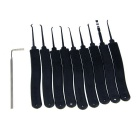 Slotted Practice Padlock + Advanced 9-Piece Lock Picks