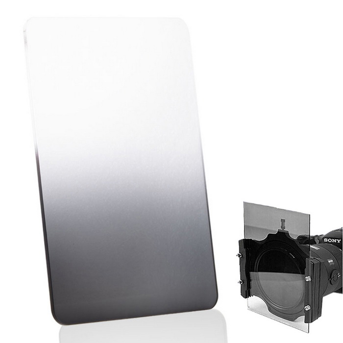 EOSCN Square 100 x 150mm Neutral Density Gradient Grey Resin Filter