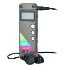 "Professional Noise Reduction 1.0"" Digital Voice Recorder MP3 - Irony Grey (8GB)"