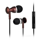 JBMMJ 3.5mm Plug Wired In-Ear Earphones w/ Mic. / Remote - Coffee