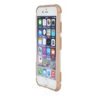 Matte ABS Back Case w/ Stand for IPHONE 6 - Brown + Transparent