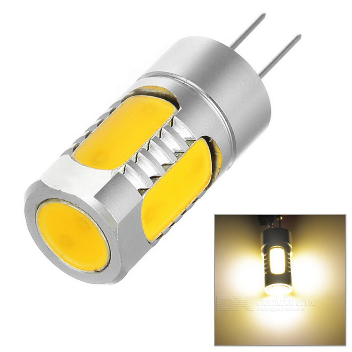 G4 3W Dimmable 5-LED COB Light Warm White 3000K 180lm (DC 12V)