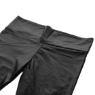 Women's Sexy Elastic Tight-Fitting Cotton + Polyester Leggings - Black