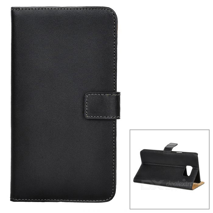 Mini Smile Flip Open Case w/ Card Slots for Samsung Note 5 - Black