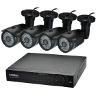 "DAOSEN 8-CH HDMI DVR 960H w / 4 x 42-IR-LED 1/3 ""CCD 1200TVL Indoor / Outdoor-Kameras (EU-Stecker)"