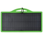 8W Universal Solar Charger w/ USB2.0 Port for Cellphones - Black + Green