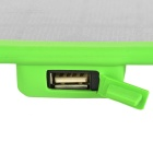 8W Universal Solar Charger w/ USB2.0 Port for Cellphones - Green