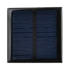DIY 0.6W 5.5V Output Polycrystalline Silicon Solar Panel - Black + Green