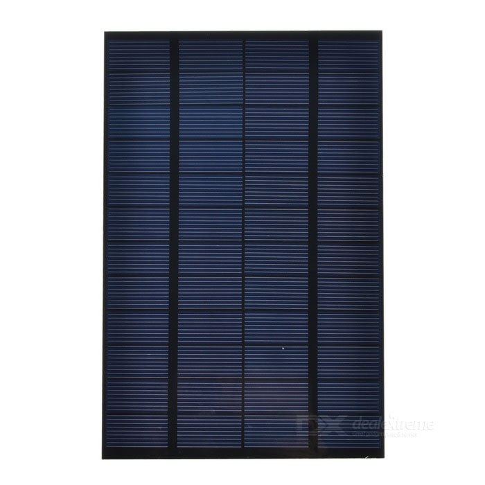 4.2W 12V Output Polycrystalline Silicon Solar Panel - Black