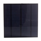 3W 6V Output Monocrystalline Silicon Solar Panel - Black + Green