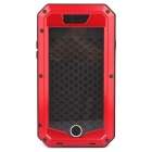 Water-Resistant Dustproof Shockproof Aluminum + Silicone Full Body Case for IPHONE 6 - Black + Red