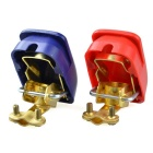 Battery Terminal Clamp for Car / Boat / Motorhome - Red + Blue (Pair)