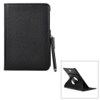 Lychee Pattern Protective Case w/ Stand + Touch Pen for Samsung Galaxy Tab S2 8.0 T710/T715 - Black