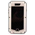Water-Resistant Dustproof Shockproof Aluminum + Silicone Full Body Case for IPHONE 6 - Black + Gold